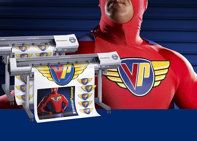"2007 Roland adds two new high-performance models to its popular VersaCAMM line. The VP Series printer/cutters: ""With VersaPower, you're the superhero."""