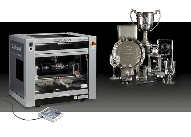 2009 Roland expands its line of engraving solutions with the new and EGX-360 rotary gift engraver.